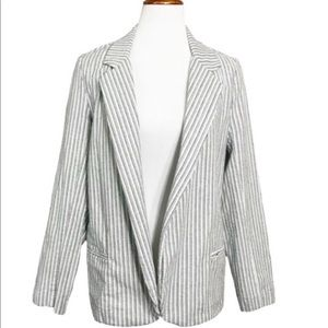 Urban Outfitters Striped Open Blazer